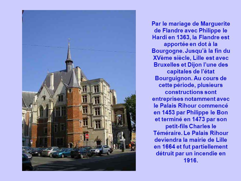 Par le mariage de Marguerite de Flandre avec Philippe le Hardi en 1363, la Flandre est apportée en dot à la Bourgogne.
