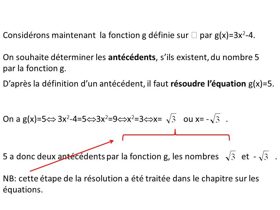 Considérons maintenant la fonction g définie sur  par g(x)=3x2-4.
