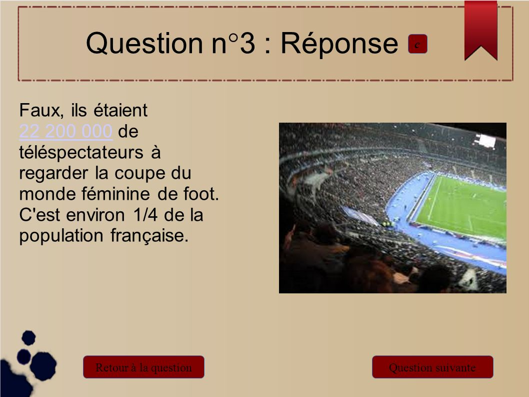Question n°3 : Réponse c.