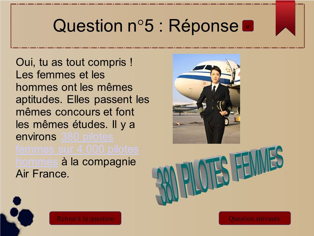 Question n°5 : Réponse a.