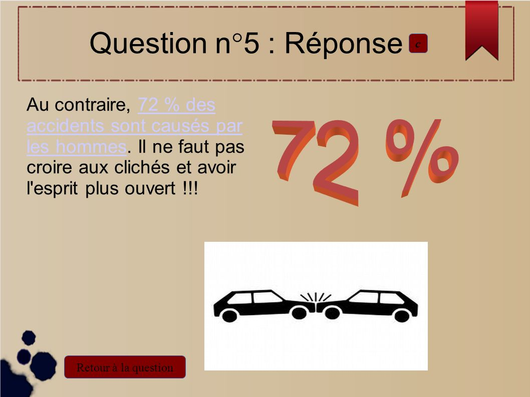Question n°5 : Réponse c.
