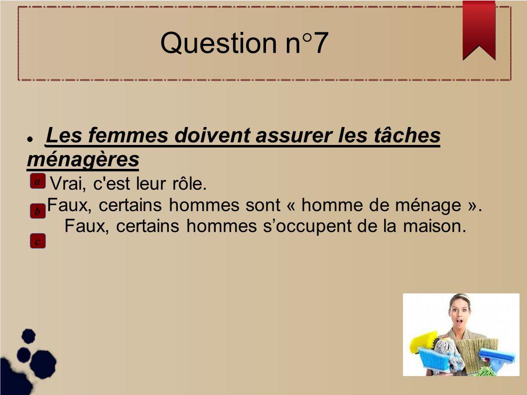 Question n°7
