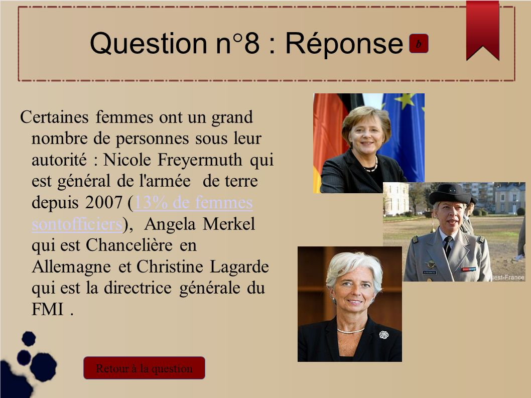 Question n°8 : Réponse b.