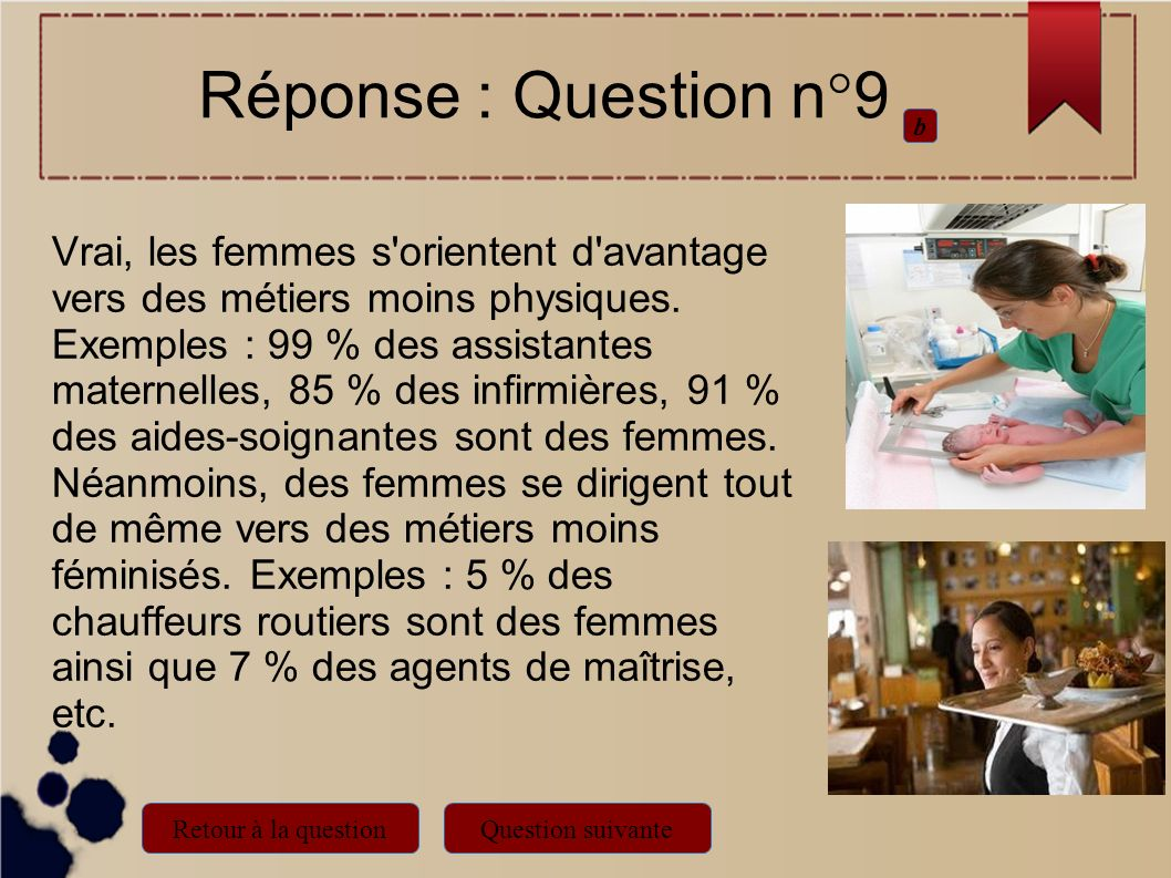 Réponse : Question n°9 b.