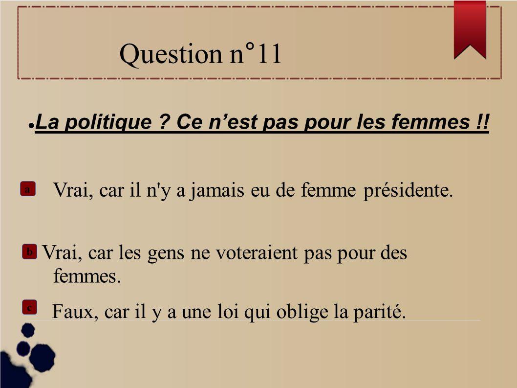 La politique Ce n'est pas pour les femmes !!