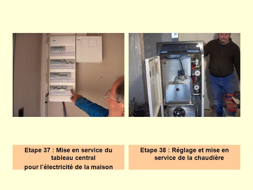 Etape 38 : Réglage et mise en service de la chaudière
