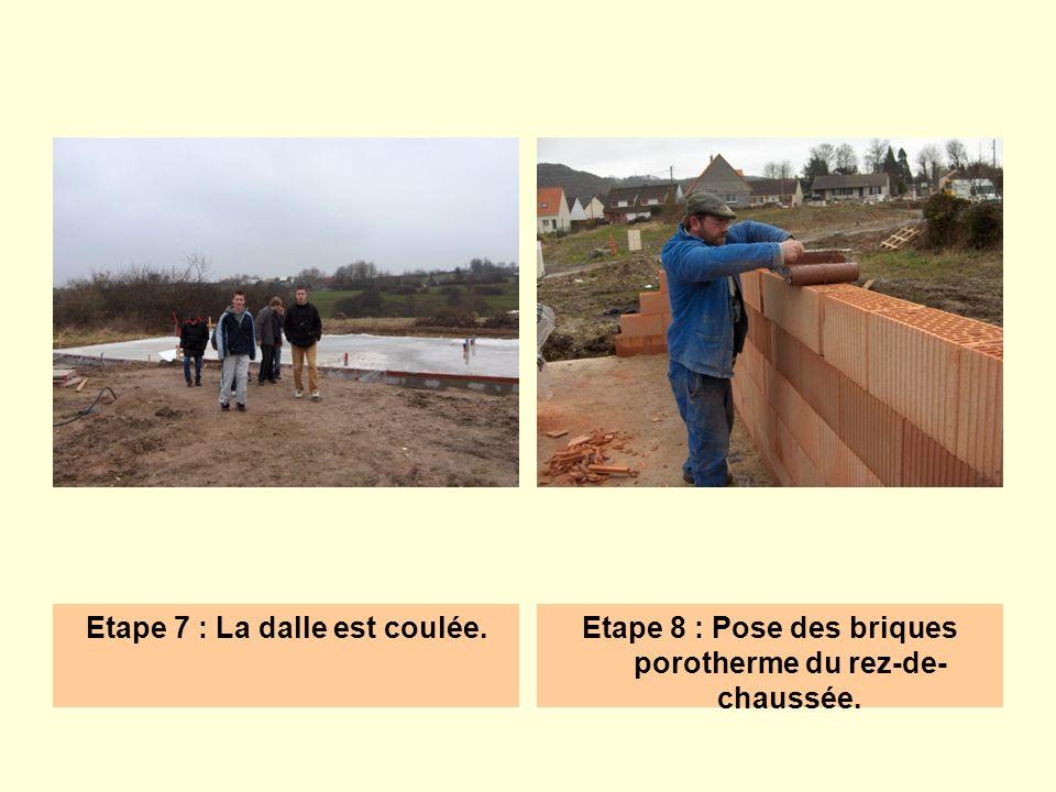 Etape 7 : La dalle est coulée.