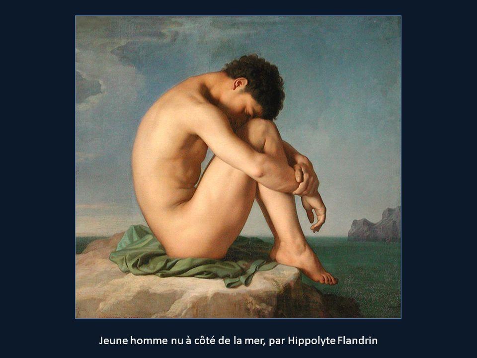 Jeune homme nu à côté de la mer, par Hippolyte Flandrin