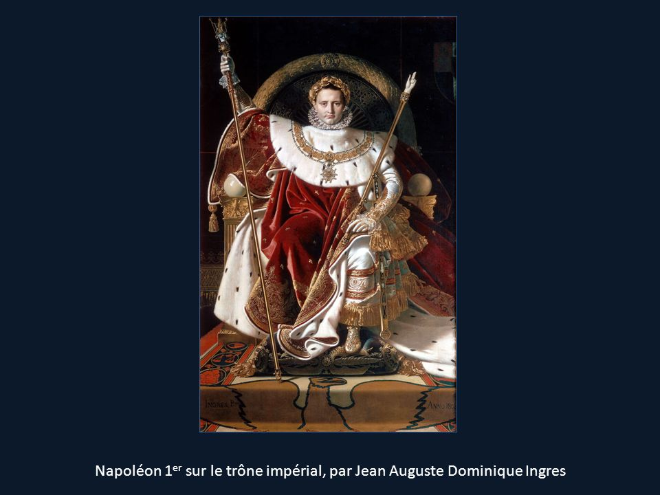 Napoléon 1er sur le trône impérial, par Jean Auguste Dominique Ingres