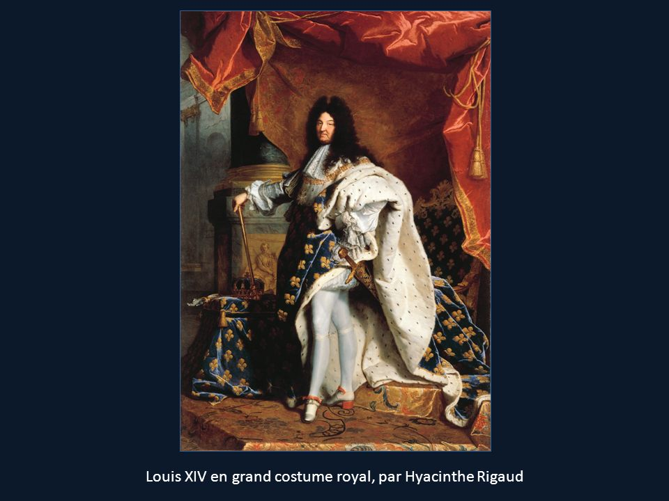 Louis XIV en grand costume royal, par Hyacinthe Rigaud