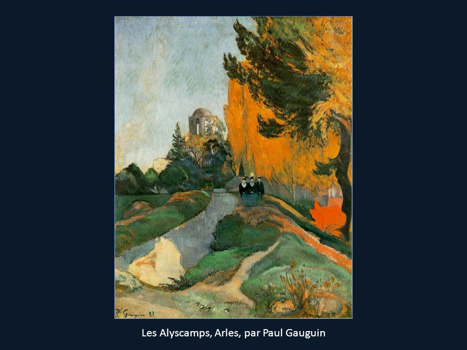 Les Alyscamps, Arles, par Paul Gauguin