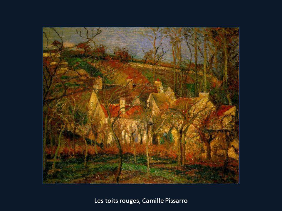 Les toits rouges, Camille Pissarro