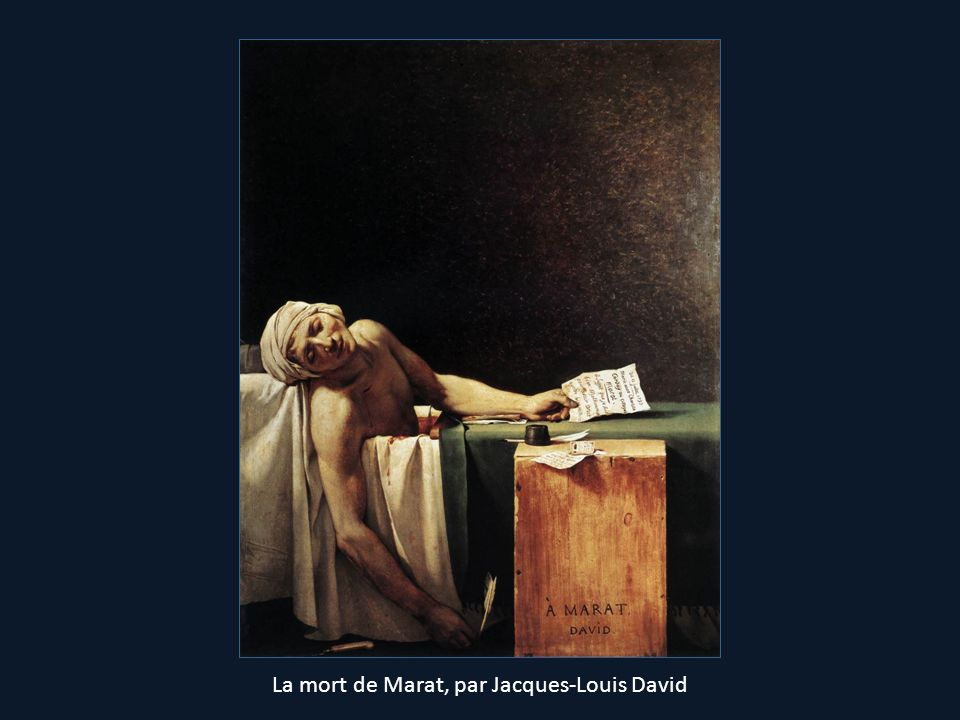 La mort de Marat, par Jacques-Louis David