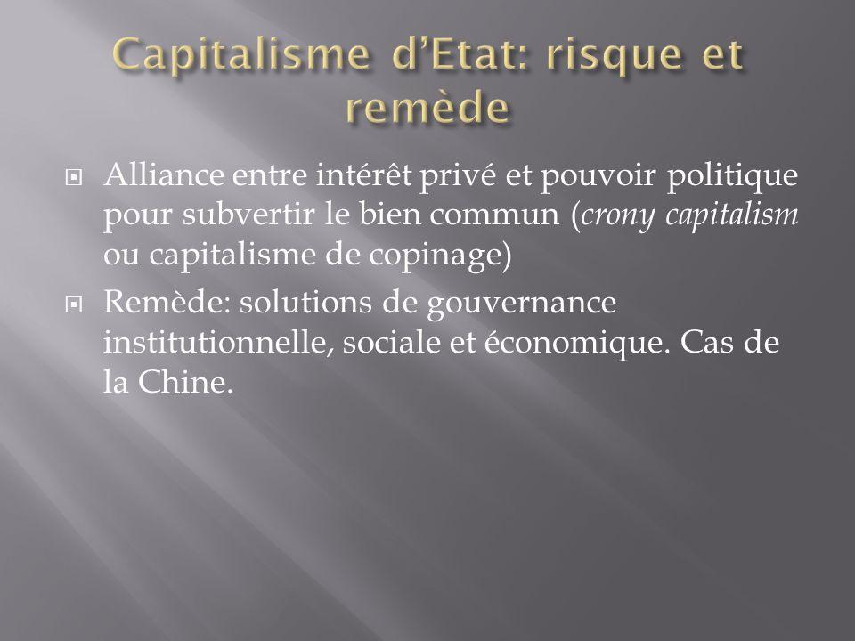 Capitalisme d'Etat: risque et remède