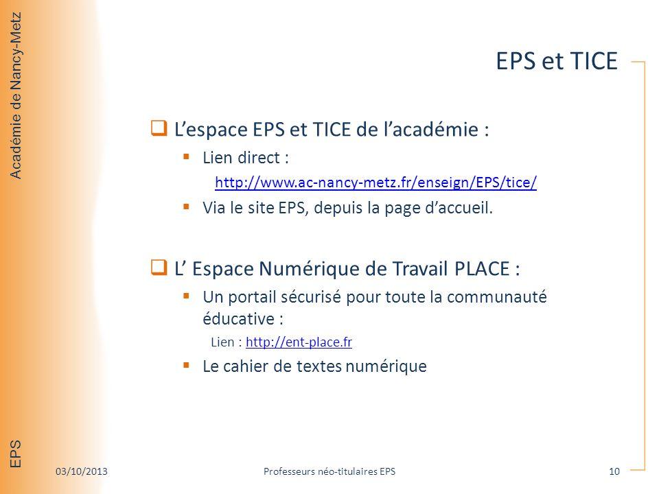 Professeurs néo-titulaires EPS