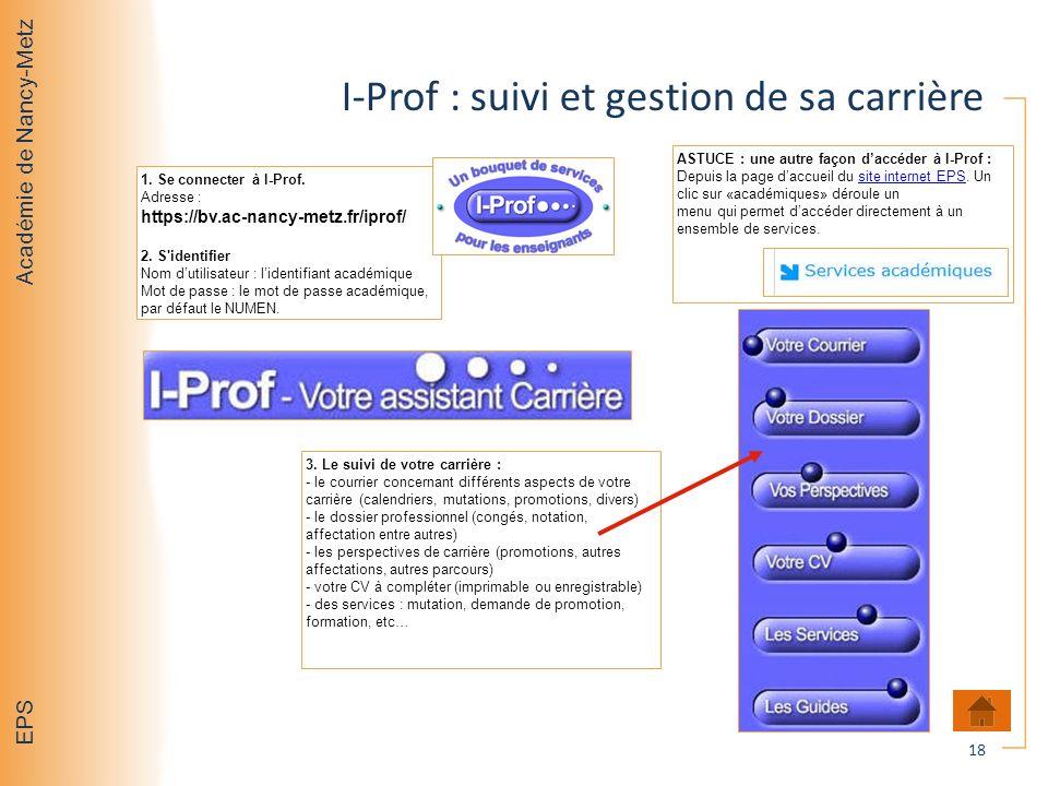 I-Prof : suivi et gestion de sa carrière