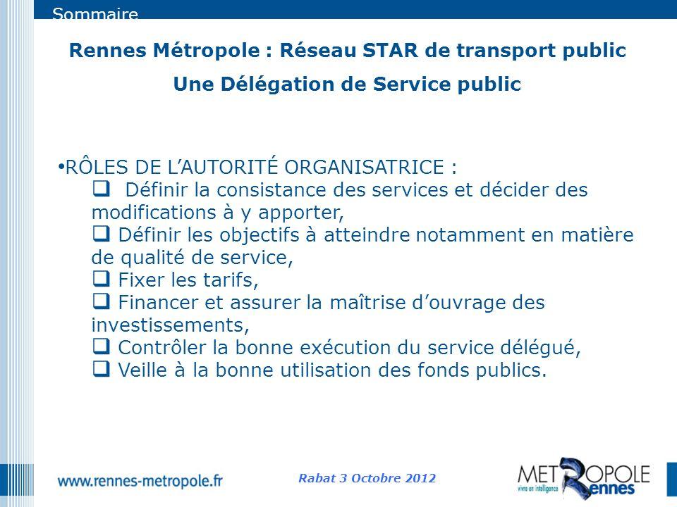 Rennes Métropole : Réseau STAR de transport public