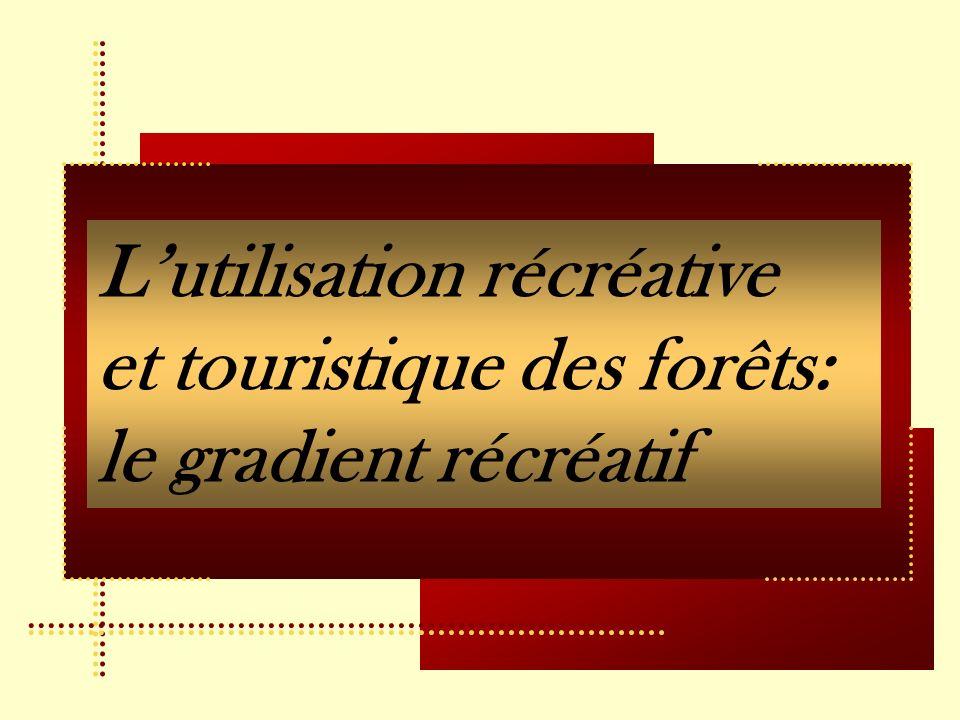 L'utilisation récréative et touristique des forêts: