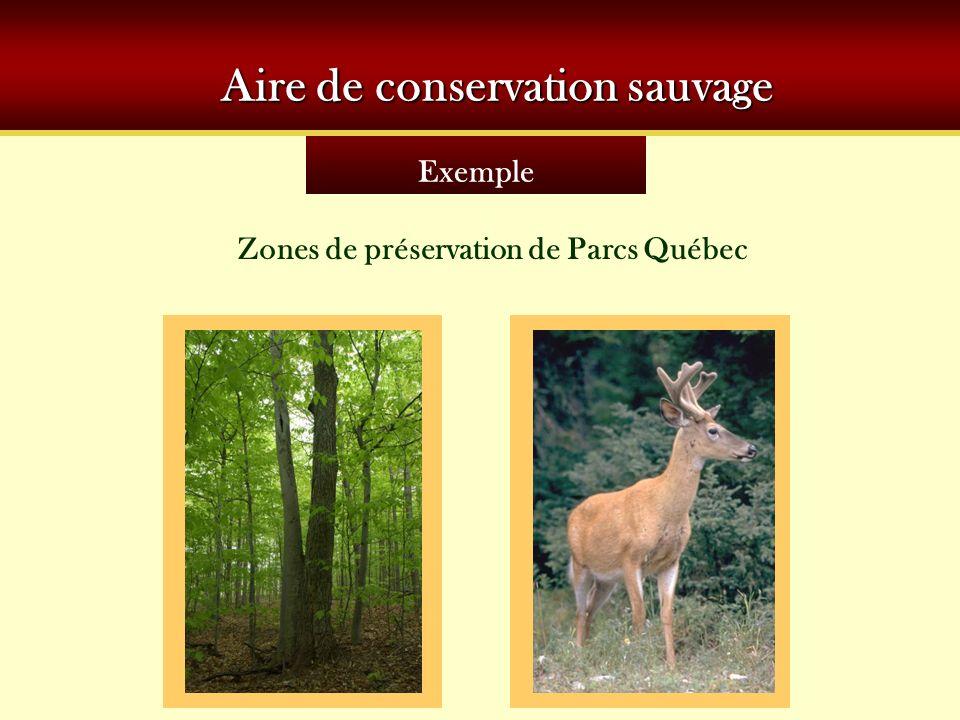 Aire de conservation sauvage