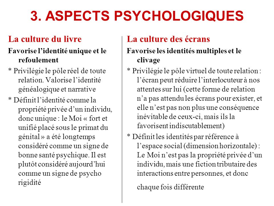 3. ASPECTS PSYCHOLOGIQUES