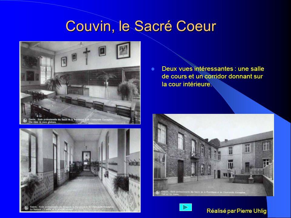Couvin, le Sacré Coeur Deux vues intéressantes : une salle de cours et un corridor donnant sur la cour intérieure.