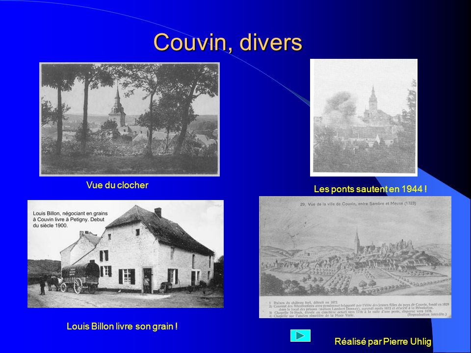 Couvin, divers Vue du clocher Les ponts sautent en 1944 !