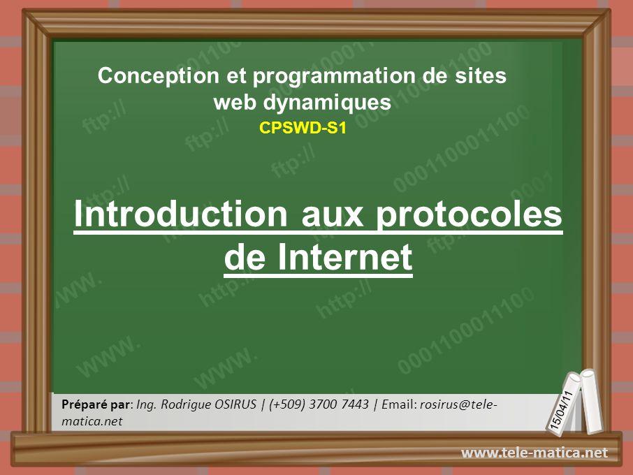 Introduction aux protocoles de Internet