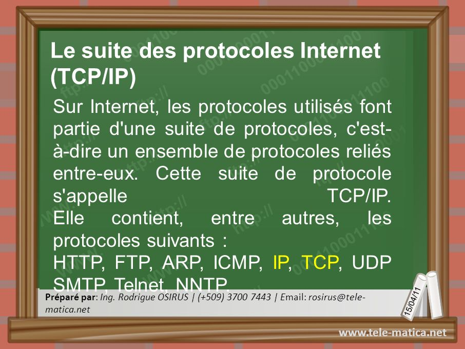 Le suite des protocoles Internet (TCP/IP)