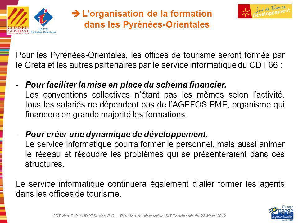 L'organisation de la formation dans les Pyrénées-Orientales