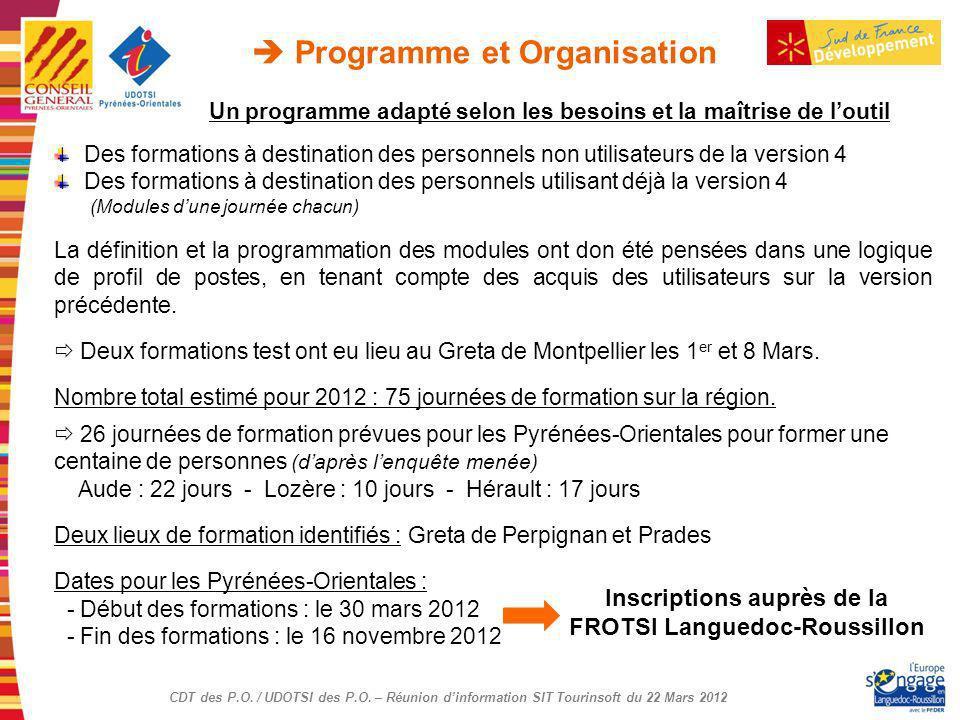  Programme et Organisation