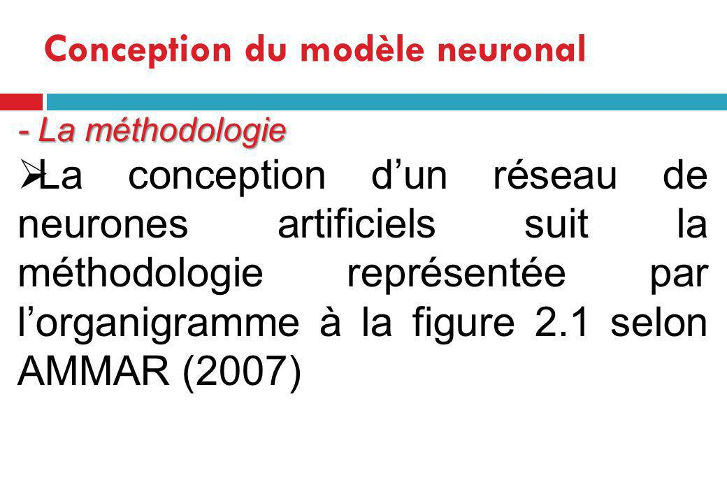 Conception du modèle neuronal