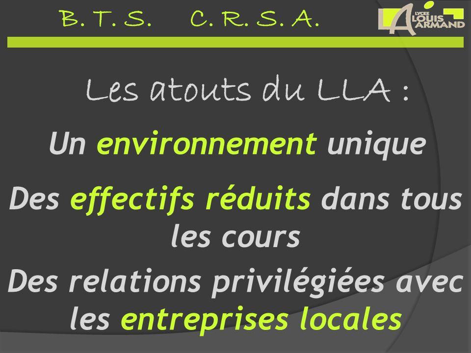 Les atouts du LLA : Un environnement unique