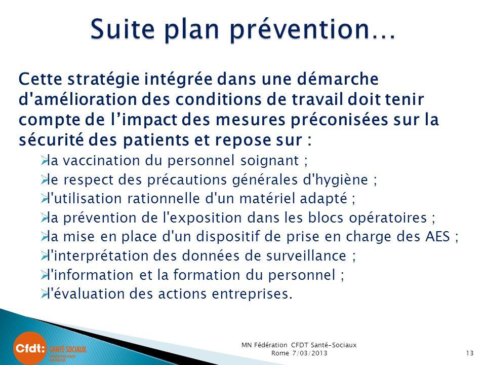 Suite plan prévention…