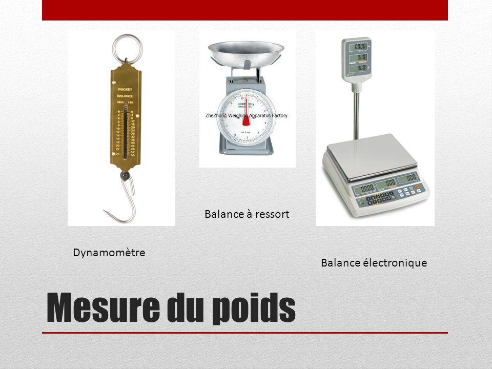 Balance à ressort Dynamomètre Balance électronique Mesure du poids