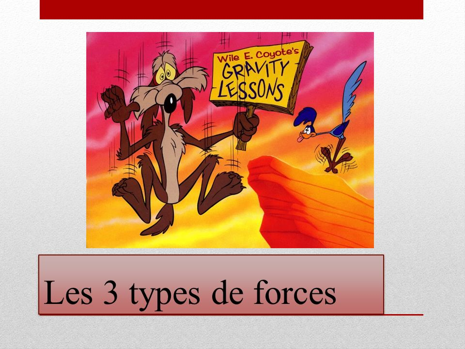 Les 3 types de forces