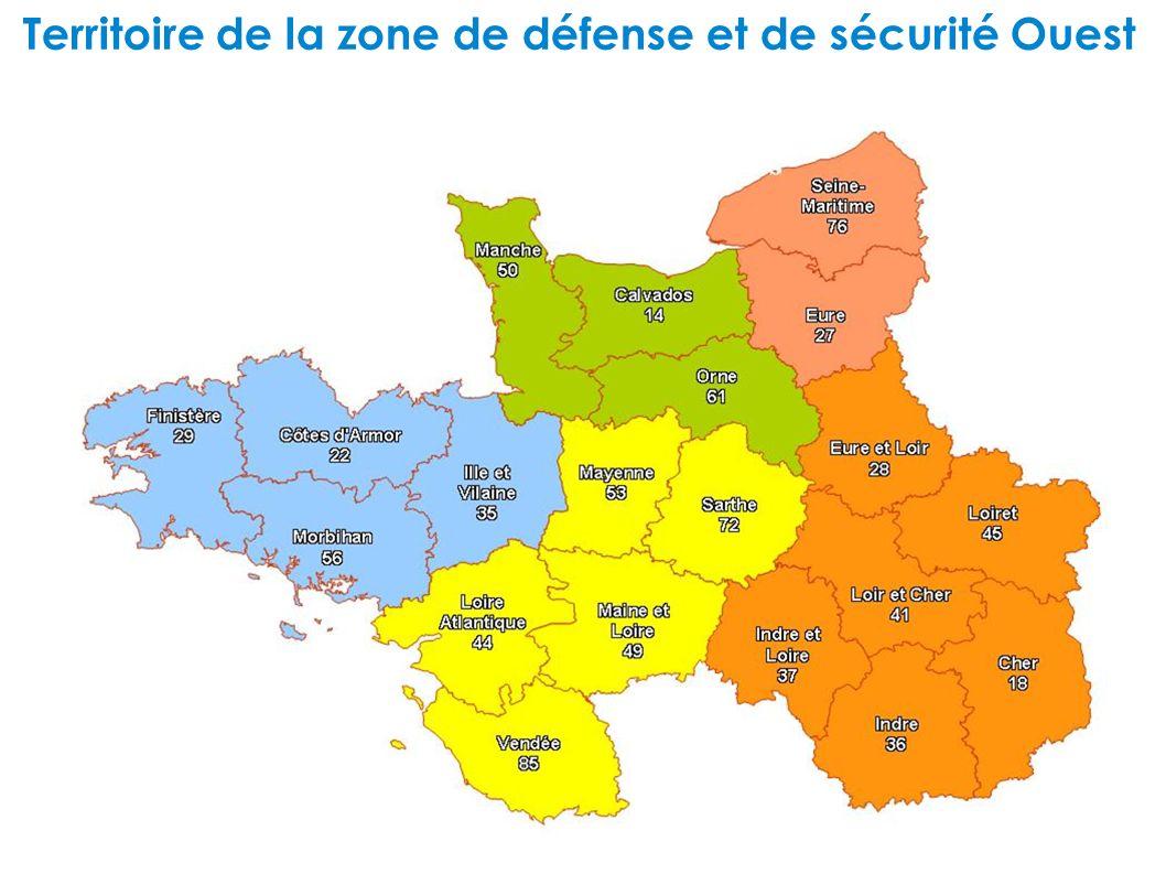 Territoire de la zone de défense et de sécurité Ouest