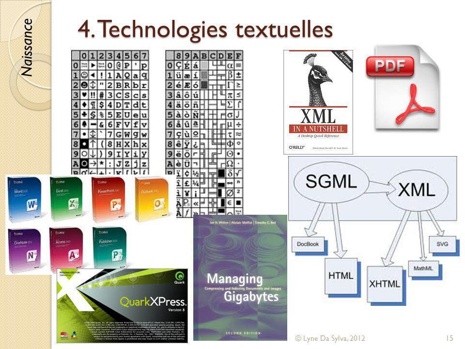 4. Technologies textuelles