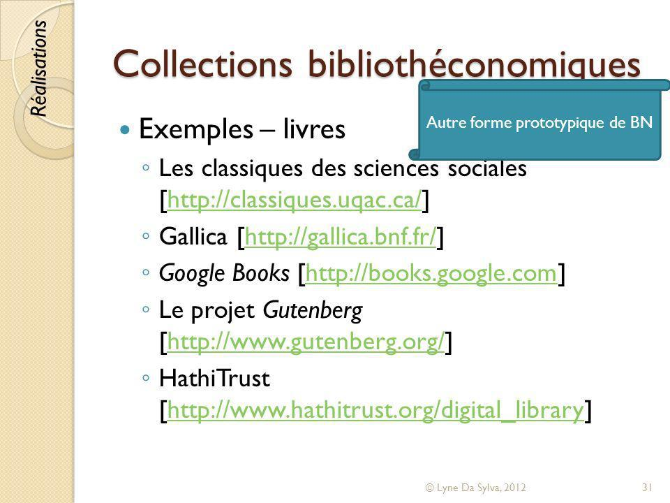 Collections bibliothéconomiques