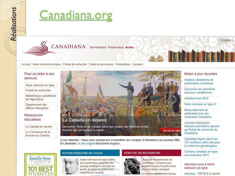 Canadiana.org Réalisations © Lyne Da Sylva, 2012