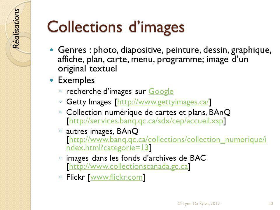 Collections d'images Réalisations.