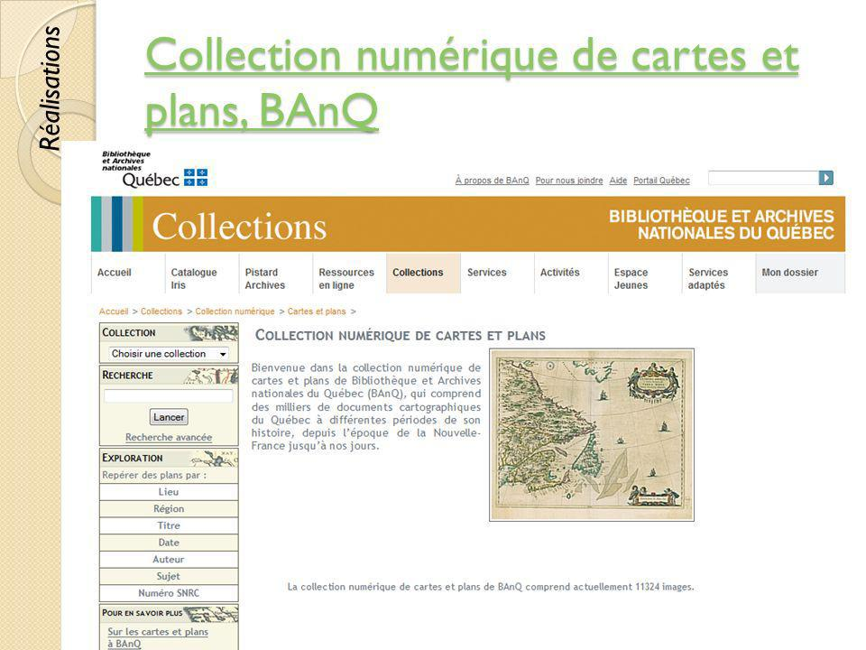 Collection numérique de cartes et plans, BAnQ