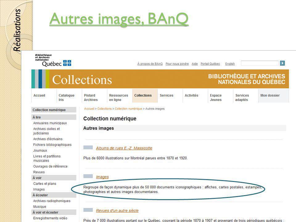 Autres images, BAnQ Réalisations © Lyne Da Sylva, 2012