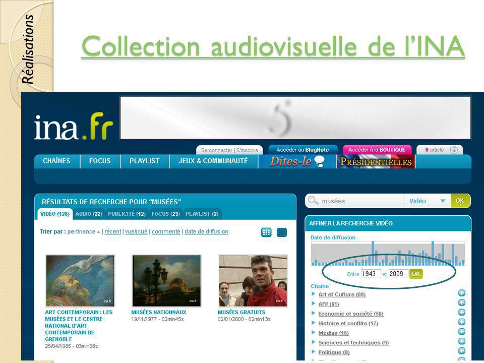Collection audiovisuelle de l'INA