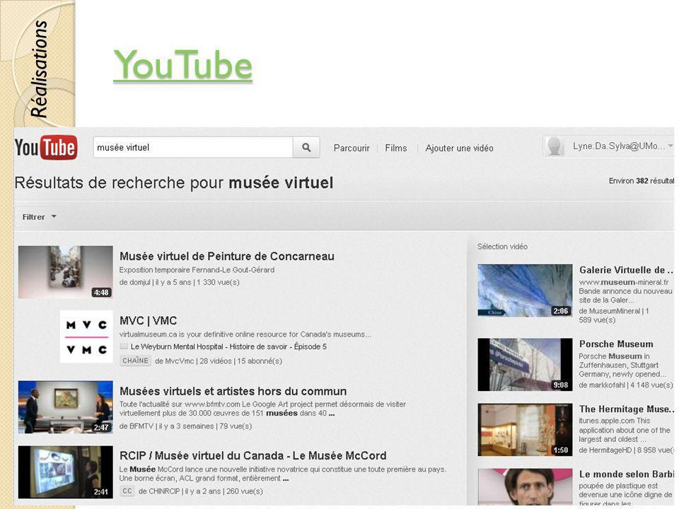 YouTube Réalisations © Lyne Da Sylva, 2012