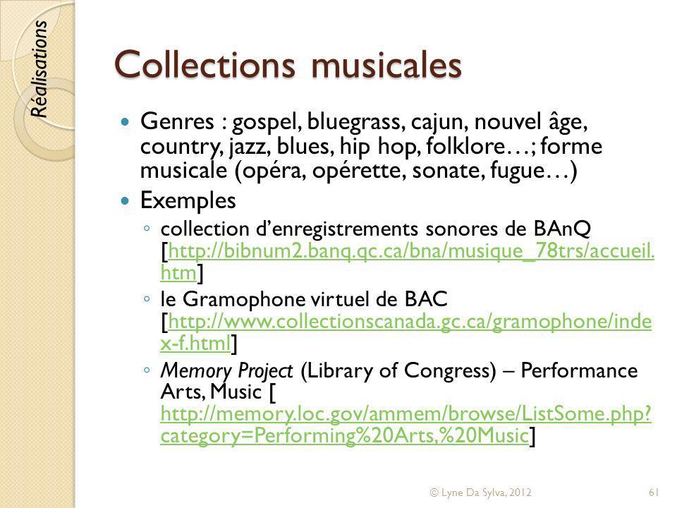 Collections musicales