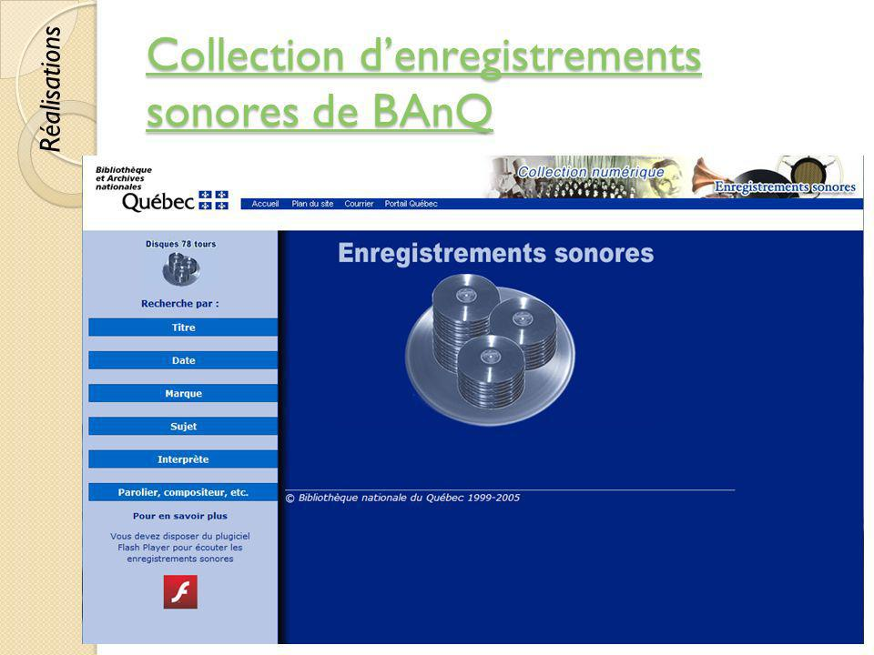 Collection d'enregistrements sonores de BAnQ