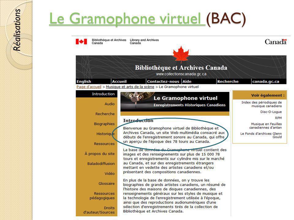 Le Gramophone virtuel (BAC)