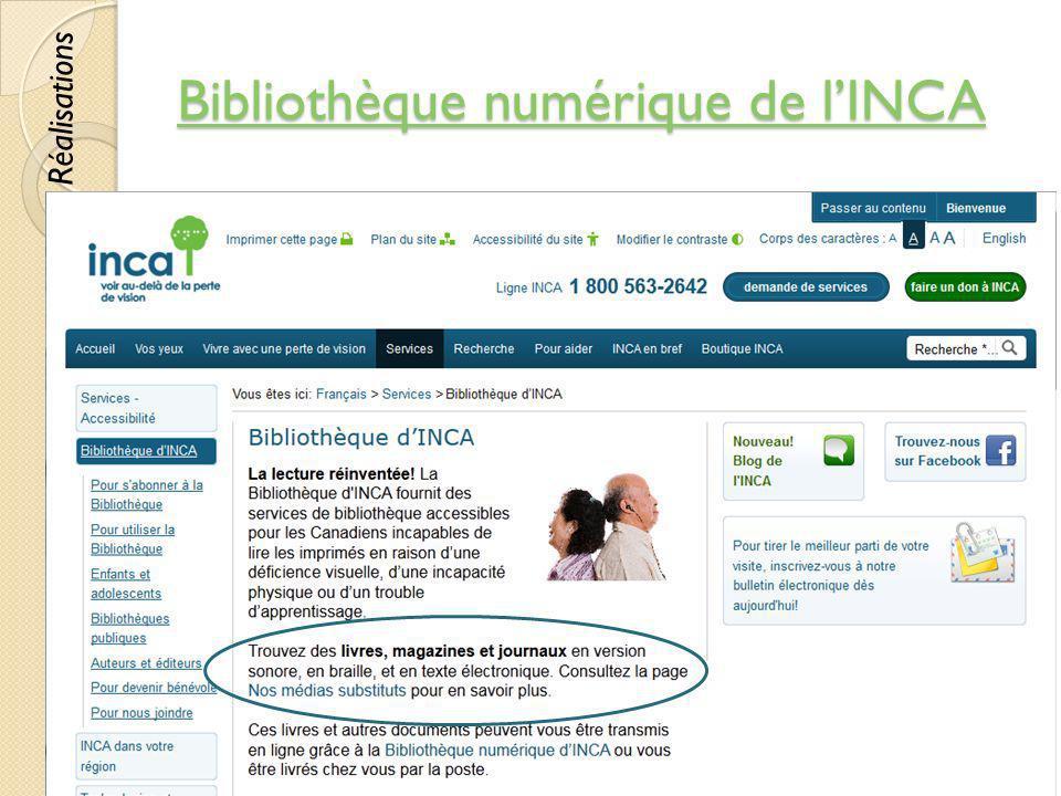 Bibliothèque numérique de l'INCA