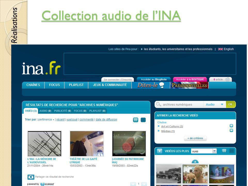Collection audio de l'INA