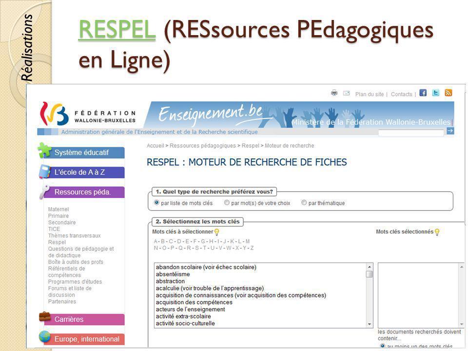 RESPEL (RESsources PEdagogiques en Ligne)